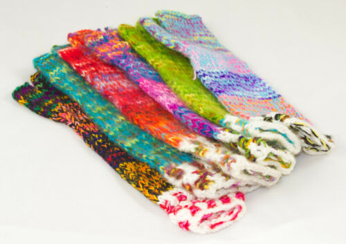 hand knitted Arm warmers fairly traded from Bolivia