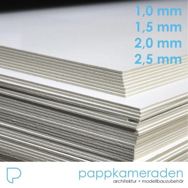 Siebdruckkarton weiß 2,5mm 75x100cm, Displaykarton, Passepartout, Siebdruckpappe