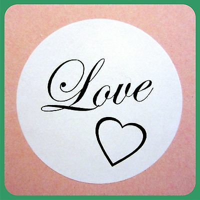 100 WEDDING ENVELOPE SEALS LOVE ROUND STICKERS BOMBONIERE FAVOURS LABELS STICKY