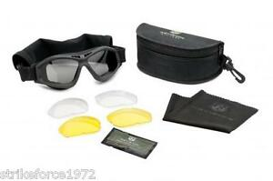 NEW-Revision-Bullet-Ant-Goggles-UK-Forces-Issue-Black-Frames