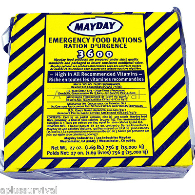 27 Meals 9 Day 3600 Calorie Emergency Survival Food Bar Ration Car Kit Bug Out