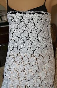 "5 yards lace 38"" wide for bridal gown & dresses, double edge scallop"