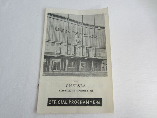 1962-63 LEEDS UNITED v CHELSEA DIV 2