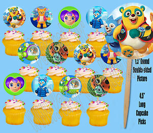 Disney-Jr-SPECIAL-AGENT-OSO-Double-Sided-Cupcake-Picks-Cake-Toppers-12-pcs