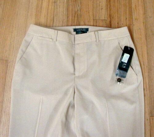 Ralph Lauren Women Tan Pants Light weight Wool Brand New w Tags Size 4