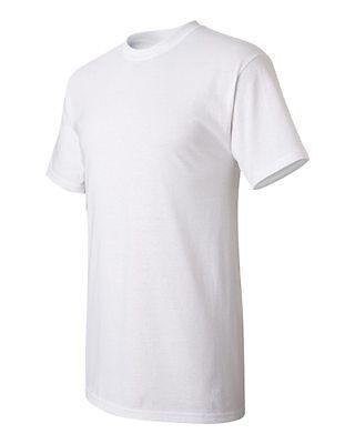 60 Wholesale Plain Gildan 100% Cotton White Adult T-Shirts S M L XL