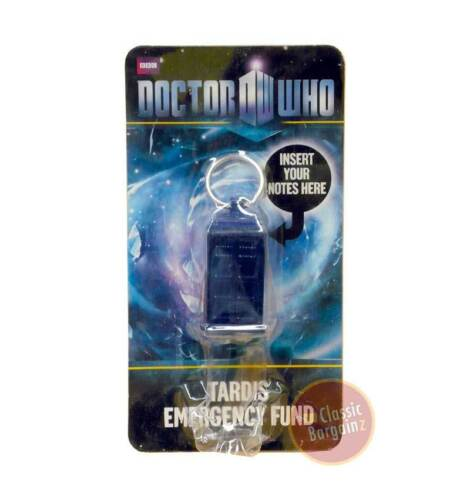 DOCTOR WHO TARDIS Emergency Fund Keychain dr NEW secret cash pocket keyring