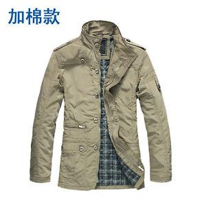 Classic-Men-039-s-Fashion-Stand-up-collar-Waterproof-Plus-cotton-4size-M-L-XL-XXL
