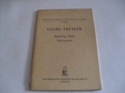 Noten Trexler Spitzweg Suite Bläserquintett Taschenpartitur