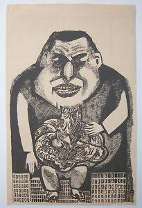 Frans-Masereel-Belgian-1889-1972-WW1-politics-Lithograph-c-1914