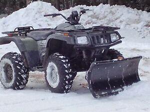 Universal fit atv quad snow plow for yamaha polaris for Honda fit in snow