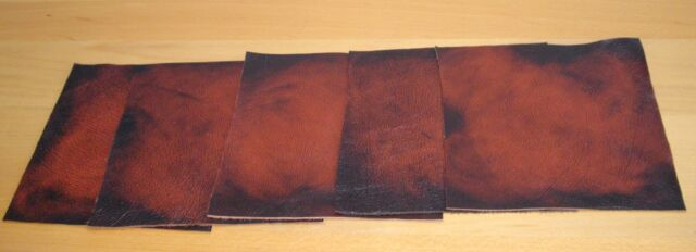 leathercraft pieces scrap offcuts Antique Rust real leather hide