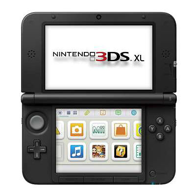 nintendo 3ds xl handheld system black launch edition. Black Bedroom Furniture Sets. Home Design Ideas