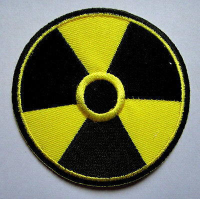 NUCLEAR POWER SIGN SYMBOL LOGO Embroidered Iron on Patch Free Shipping