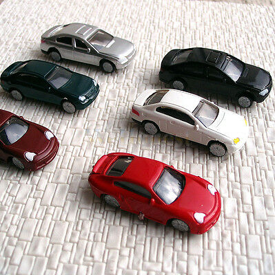 50 pcs HO Scale 1/100th Normally painted Model Cars #C