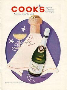 A Imagem Está Carregando 1956 Cook 039 S Imperial American Champagne  Garrafa