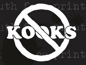 NO KOOKS Hawaii Car Window Surf Vinyl Decal Sticker CUSTOM EBay - Custom vinyl decals hawaii