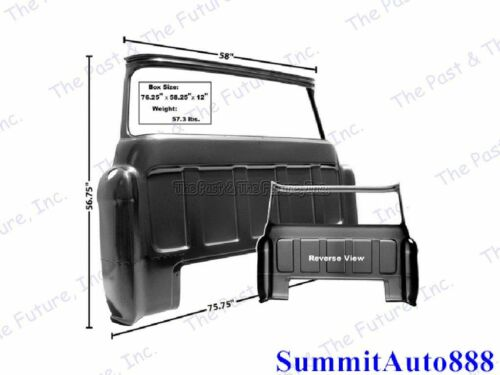 55 56 57 58 59 Chevy Pickup Truck Rear Outer Cab Panel w/ Big Window CPCB5559-2