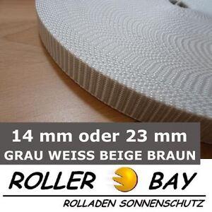 Rolladengurt-Gurtband-Mini-oder-Maxi-alle-Farben-50-m-grau-weiss-beige-braun