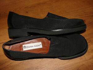 WOMENS SHOES BLACK LOAFERS ETIENNE AIGNER 7 M