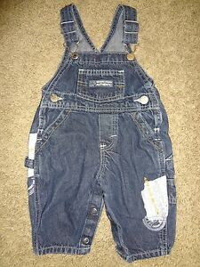 Baby Boys Size Medium Blue Denim Jean Bibs Bib Overalls By