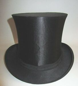 ancien chapeau haut de forme a claque avec boite antique top hat in box ebay. Black Bedroom Furniture Sets. Home Design Ideas