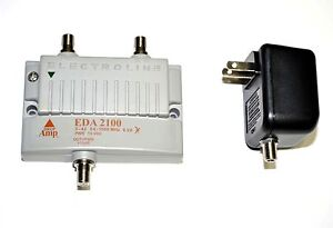 Electroline-EDA-2100-1-port-RF-CATV-Signal-Amplifier-New-in-Package