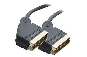1-5m-M-EUROCONECTOR-A-CONECTOR-ADAPTADOR-CABLE-21-Pin-Oro-Conectores