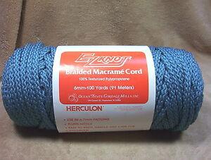 EZ-Knott-Braided-Macrame-Craft-Cord-Rug-Yarn-6MM-100Yds-Light-Teal-Blue