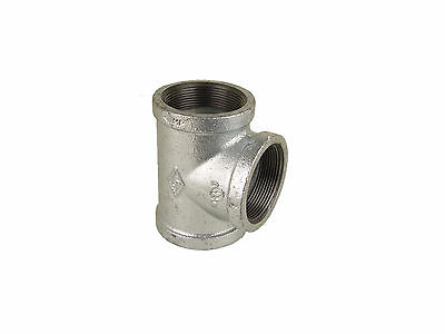 1-1/2'' Galvanized Malleable Pipe Fitting Tee (Lot of 10 )