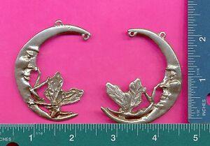 6 wholesale lead free pewter fairy on moon suncatcher figurines D4150