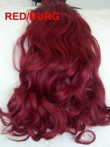 24 clip in hair extensions curly wavy burgundy red one piece ebay image is loading 24 034 clip in hair extensions curly wavy pmusecretfo Choice Image