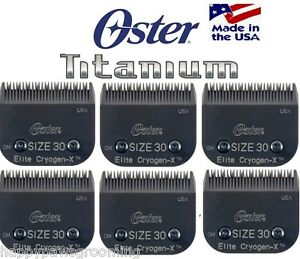 6 Oster A5 Elite Titane Cryogen-x Coupe-ongles 30 Guide Peigne Blade Dure 3x