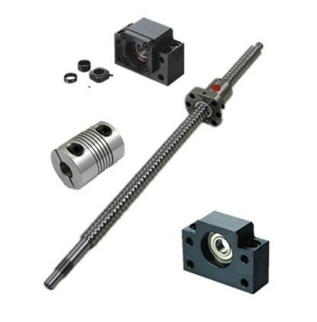 1pcs antibacklash ball screw 1605 -L350mm-C7+BK/BF12 + 2pcs 6.35*10mm couplers