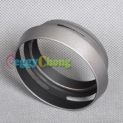LH-JX100 Lens Hood LA-49X100 Adapter Ring For FUJIFILM Fuji Finepix X100 Silver