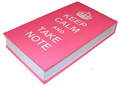PINK TALL KEEP CALM AND TAKE NOTE MEMO BLOCK NOTE PAD - THICK - DESK STATIONARY