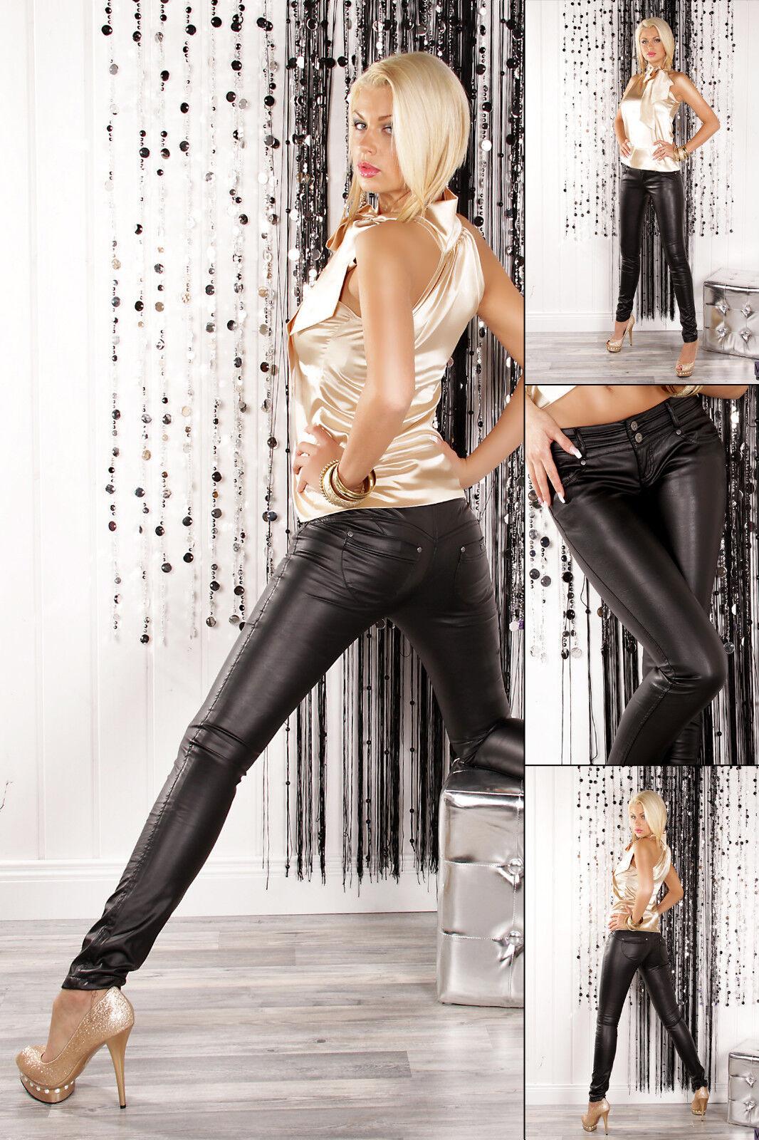 Pantaloni Donna Pantaloni di Similpelle Tubo Jeans Jeans Jeans Leggings Similpelle 0410bd