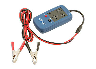 AUTOMOTIVE VEHICLE RELAY TESTER TOOL + TEST RELAY COIL RESISTANCE - CONTACTS