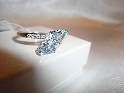 Women's Sterling Silver 1/10 CT Diamond Ring  Black Onyx Retail $100 Valentines