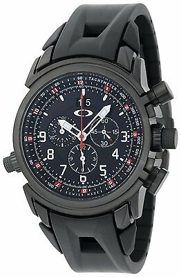 d499e8f1bff Oakley Men s 10-061 12 Gauge Chronograph Round Dial Stealth Black Chrono  Watch