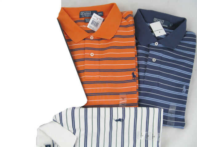 NWT! NEW! Polo Ralph Lauren Striped Polo Shirt! S M L XL (See Available Colors)