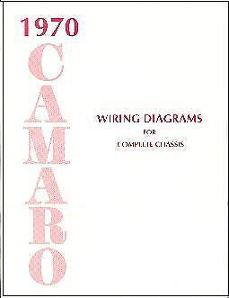1970  70   CAMARO WIRING DIAGRAM  MANUAL