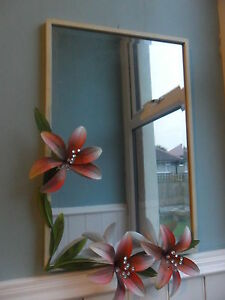 HUGE LARGE VINTAGE WALL MIRROR PINK LILY FLOWER WHITE METAL local pickup - <span itemprop=availableAtOrFrom>Lancaster, United Kingdom</span> - All item have a 100 % money back return guarantee if returned within 30 days from customer receipt of goods with in UK mainland only, this does not include any return postage just origi - Lancaster, United Kingdom
