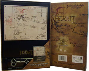 The-Hobbit-Thorin-Oakenshield-Map-amp-Key-Plaque-Hanging-Wall-Display-Noble-Gift