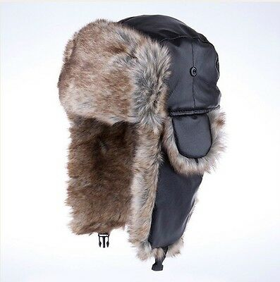 Unisex Men Women Bomber Aviator Trooper Winter Snow Ski Hat Cap Faux Fur Outdoor