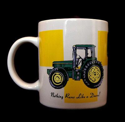 John Deere Coffee Cup Mug 12 oz Ceramic Tractor Deer