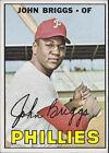 1967 Topps John Briggs Philadelphia Phillies #268 Baseball Card