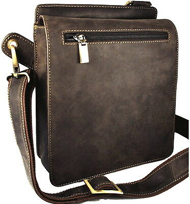 Small Messenger Bag Real Leather Oiled Brown Visconti Style 18570 BNWT