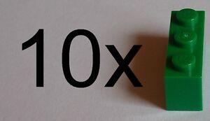 Lego-10x-Pietra-1x3-verde-3622-verde-mattoncini-di-base-Nuovo-green-mattoncini