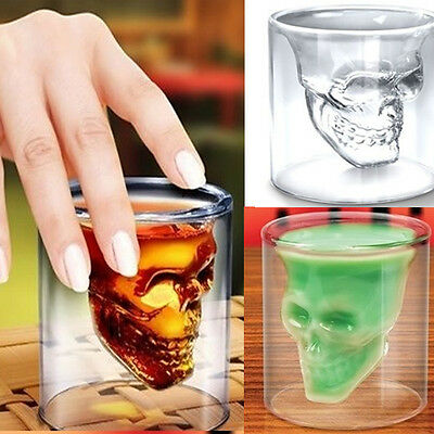 New Wine Crystal Skull Head Vodka Shot Glass Drinking Ware Cup For Home Bar